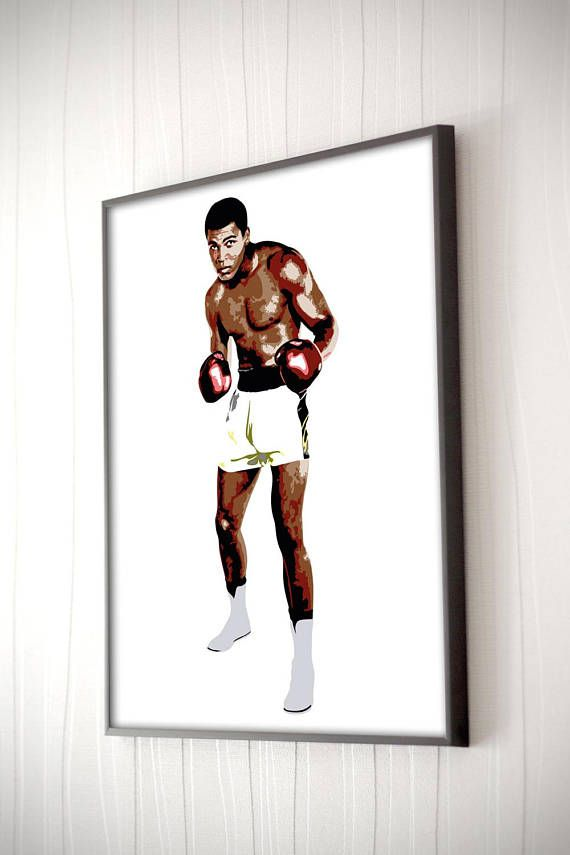 Muhammad Ali Illustration Print