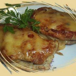 Морской окунь с сыром
