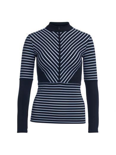 STELLA MCCARTNEY Top Manica Lunga Adidas By Stella Mccartney A Righe Bianche E Nere. #stellamccartney #cloth #topwear