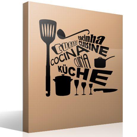17 mejores ideas sobre vinilos decorativos cocina en - Sticker per cucina ...