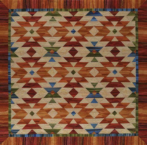 Southwest Tessellation quilt by Georgia Heller.  2013 Four Corners exhibit, Flagstaff Arts Council.