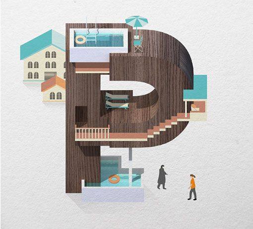 JingZhang4.jpg (510×462)Jing Zhang, Architecture Letterform, Resorts Types, Design Work, Illustration, Artists Unknown, Art Prints, Graphics Design, Letters