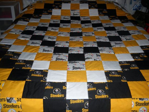 Handmade Pittsburgh Steelers KingSize Quilt by SportsQuilts, $250.00