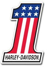 FREE Number One Harley Davidson Sticker on http://hunt4freebies.com