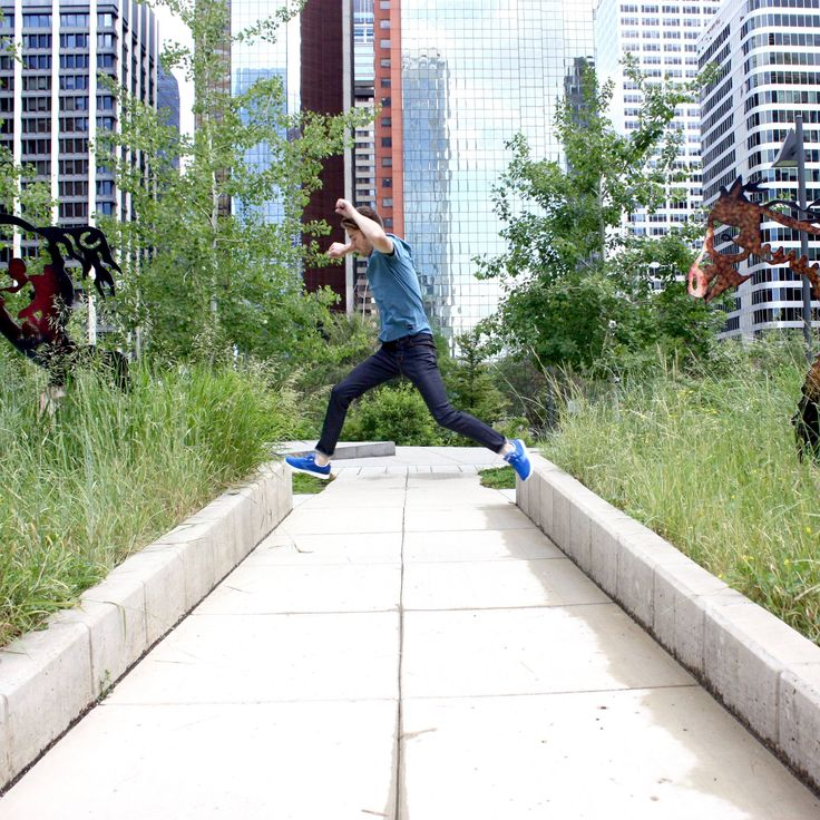 Fashion gone wild.  #fashion #jump #citylife #architecture #fashionphotography #menswear #runners #wild #new #love #horses #streetstyle Shop this look at www.kixs.ca