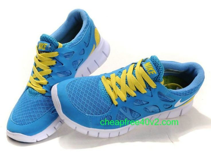 nike free runners blue and white china
