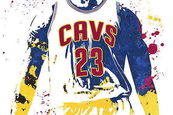 Fan art poster LeBron James King James Cleveland Cavaliers