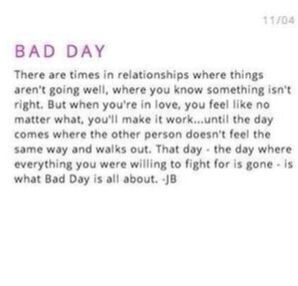 Bad Day - Description