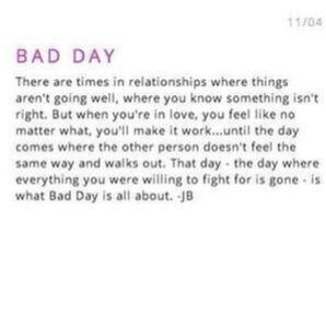 Bad Day - Description