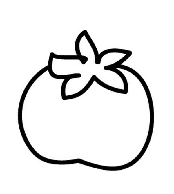 ausmalbild obst und gemüse tomate zum ausmalen kostenlos