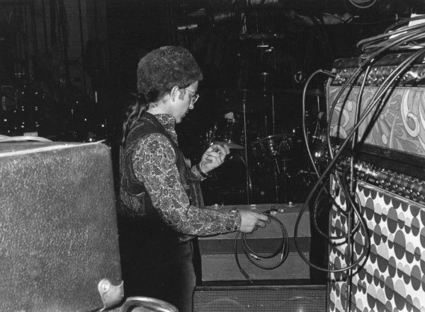 The Bear Working with the Amplifiers at the Fillmore East