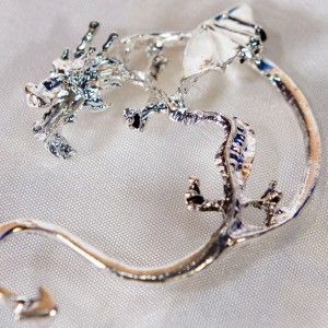 Dragon ear-stud-cuff earring (right ear only) inspired by Chinese Dragons - http://nerdipop.co.za/product/dragon-ear-stud-cuff-earring-right-ear-inspired-chinese-dragons/