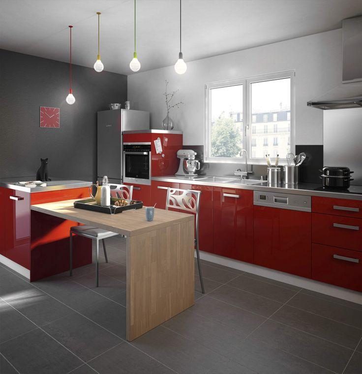 Cuisine twist rouge la cuisine pinterest cuisine for Porte harmonie lapeyre