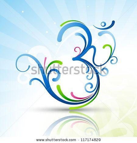 beautiful artistic vector om symbol design by PinnacleAnimates, via Shutterstock