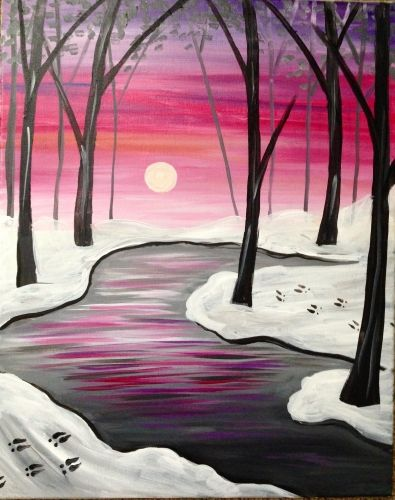 Deer Tracks at Fox and Hound North Hills Paint Nite Pittsburgh 10/22/2015