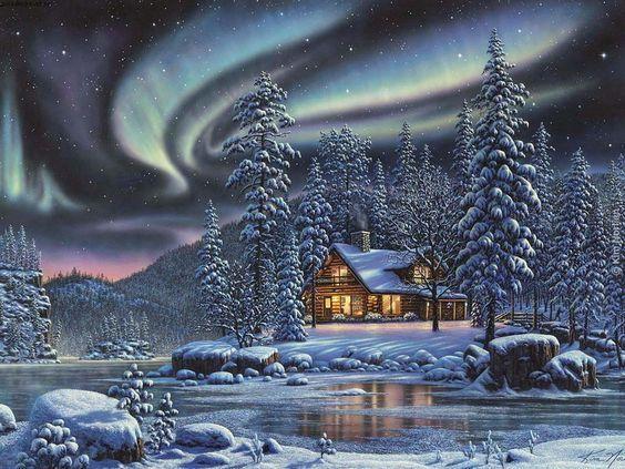 """""""Alaska"""" by Thomas Kinkade 1/25/14:"""
