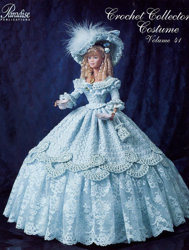 1852 Tea Party Gown for Barbie Paradise vol. 41 Crochet PATTERN NEW (NO DOLL)