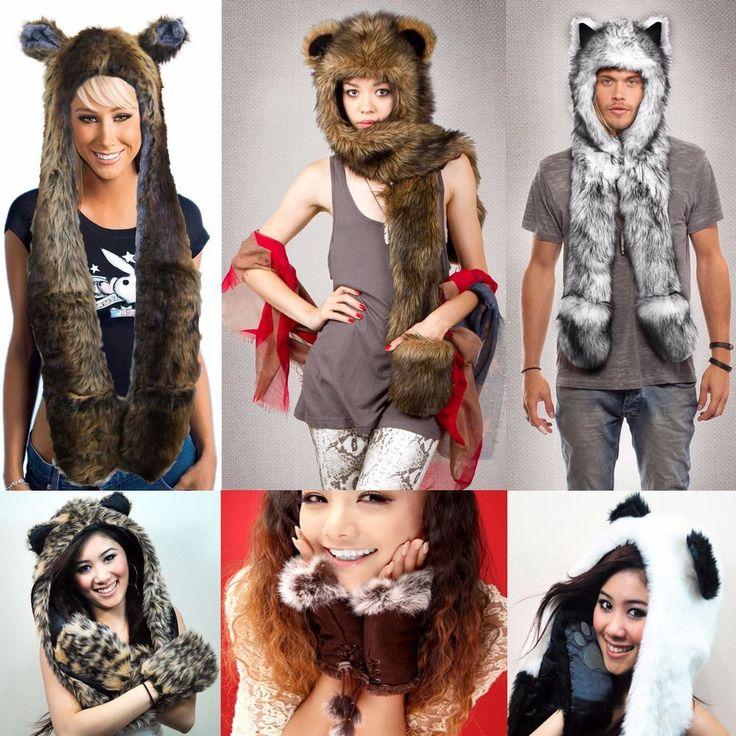 Unisex Men Fuzzy Warm Hat Scarf Fluffy Plush Cap Ear Hood Shawl Glove | Clothing, Shoes & Accessories, Women's Accessories, Hats | eBay!