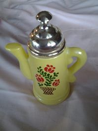 VINTAGE AVON PITCHER Avon yellow floral decanter