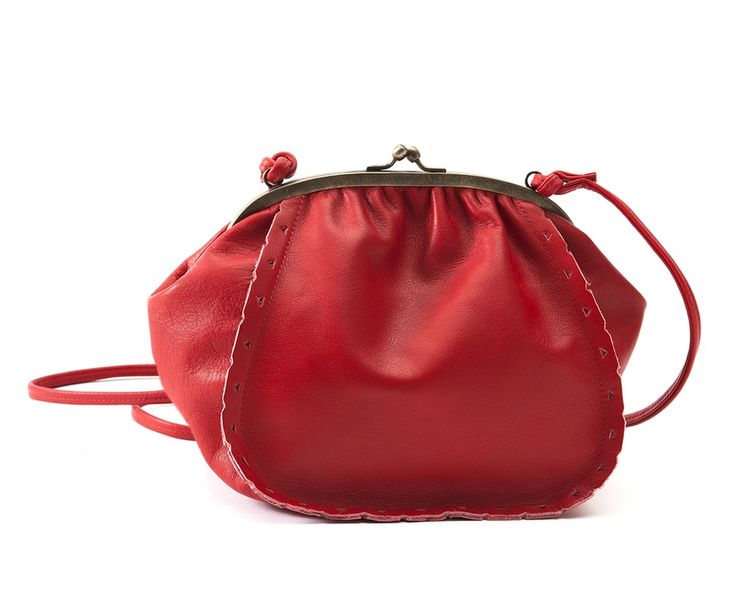 Sac bourse DELLA ROSE Rouge, €135.00 by maudterseur