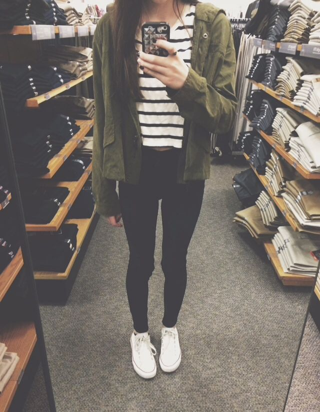 stripes � camo green oversized cardigan � white converse