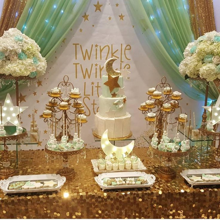 """1,317 Likes, 21 Comments - Grace's Events (@graces_events) on Instagram: """"Close up pic of our Twinkle Twinkle Little Star dessert tables.  Cake & sweets by @yariscakes…"""""""