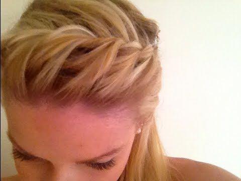 una idea diferente para hacer la trenza little bit thiker... Summer Hair Tutorial: Quick Braided Bangs