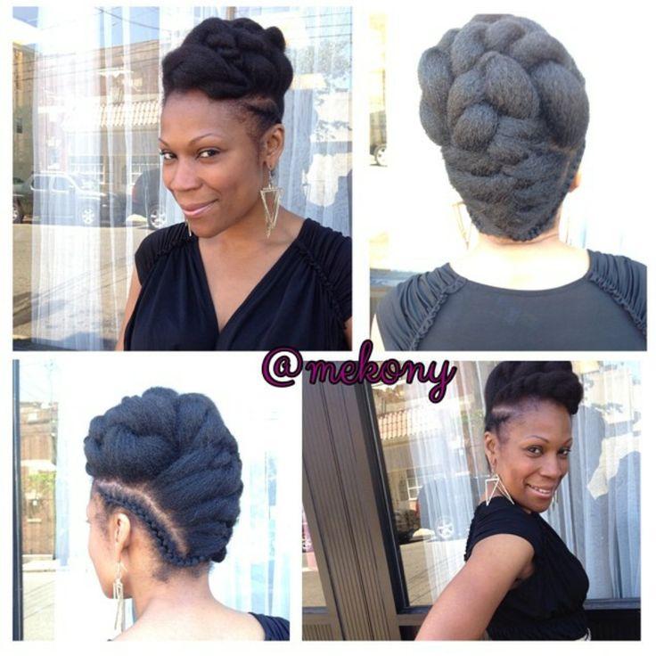 Crochet Braids With Marley Hair Updo Hair