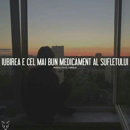 Iubirea e cel mai bun medicament al sufletului...