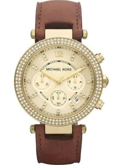 Michael Kors 'Parker' Chronograph Leather Watch, 39mm