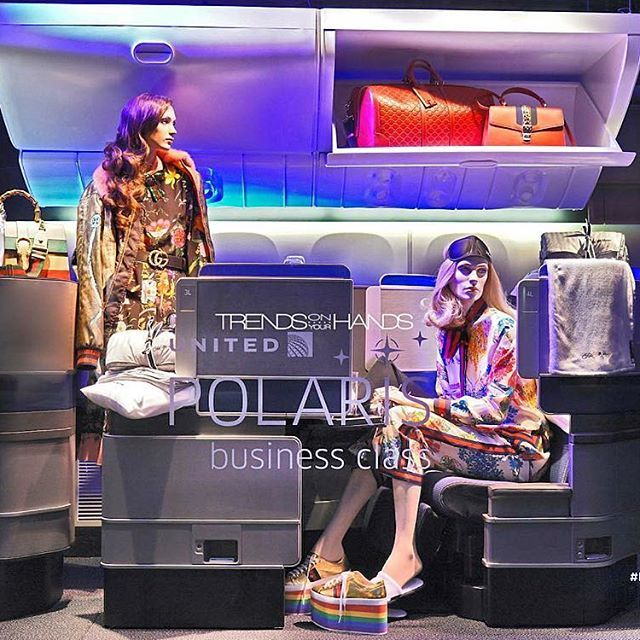 "SAKS FIFTH AVENUE, New York, ""Traveling in style and in business class with United Dream Polaris"", pinned by Ton van der Veer"