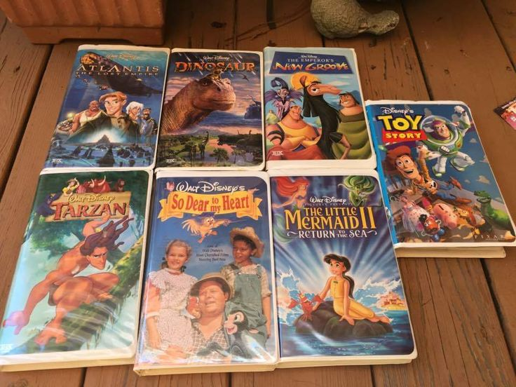 Disney VHS Toy Story Tarzan Little Mermaid II Emperors Groove Dinosaurs Atlantis