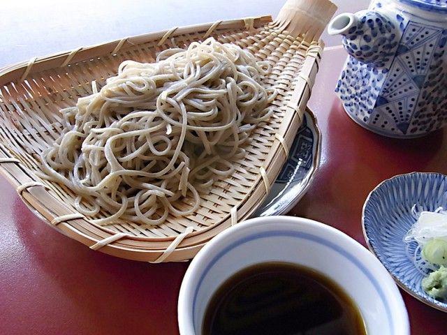 Japanese food soba noodle