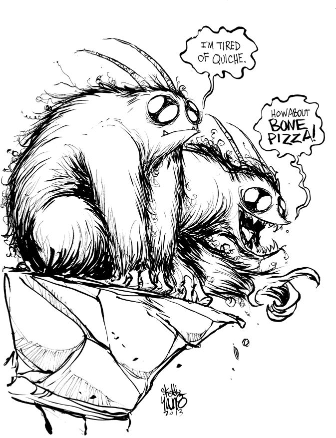 The Rat Creatures from Jeff Smith's BONE by Skottie Young