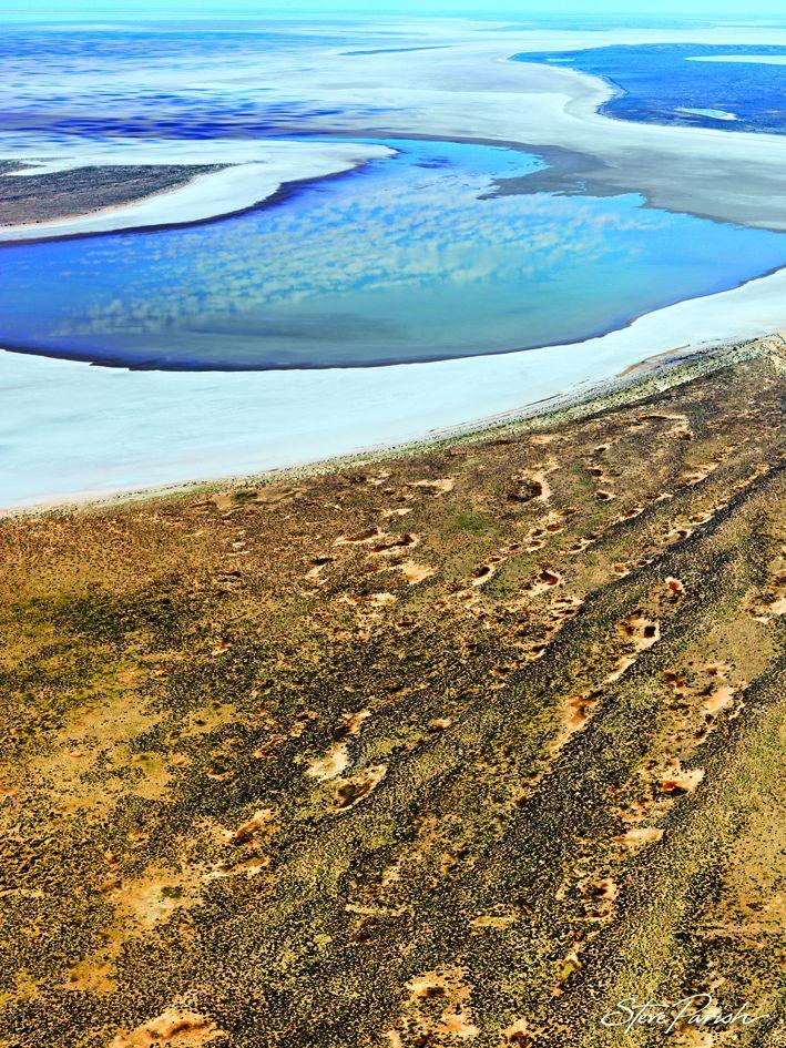 Lake Eyre, South Australia In Flood.