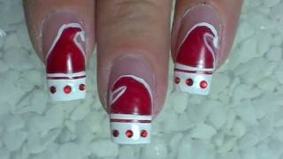 Nail Art Design ❄ Christmas ❄ Santa Claus is coming to nails ❄ Tutorial, via YouTube.