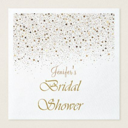 Winter glitter bridal shower  Napkins - kitchen gifts diy ideas decor special unique individual customized