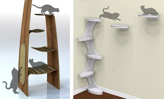 Cat Furniture: Cats Furniture, Cats Trees, Pet Furniture, Cats House, Cool Idea, Cats Towers, Cats Wall, Cats Stuff, Pet Rooms