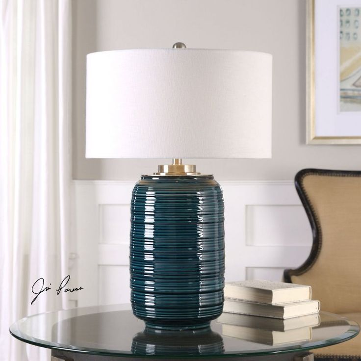 Uttermost Delane Dark Teal Table Lamp - 27520