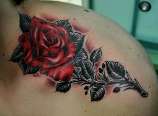 Cool rose tattoo for a guy dream tattoo artist for Cool rose tattoos
