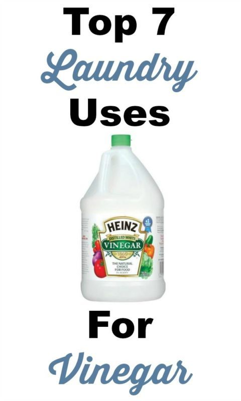 Top 7 laundry uses for vinegar -- a frugal and essential supply in your laundry room! #ad