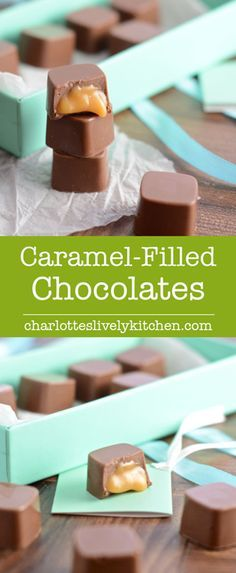 How to make caramel filled chocolates - Perfect as a gift or simply an indulgent…