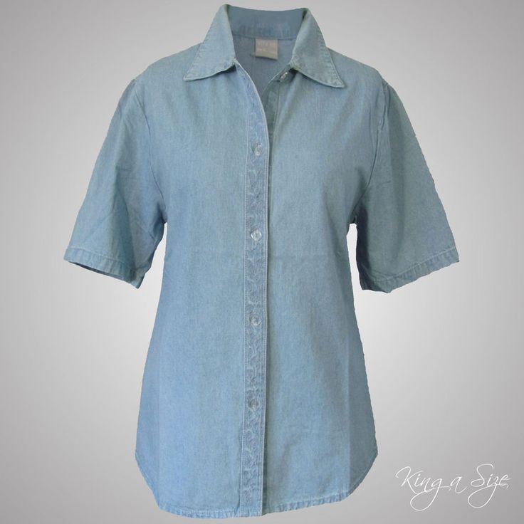 WITH ME - Jeans Bluse / Hemdbluse / Hemd / Blusenjacke100% Cotton Gr.M - 40  NEU