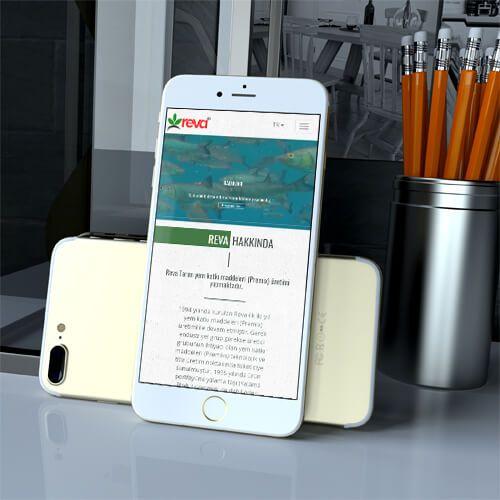 Reva Tarım - Mobile Website Tasarımı - Mobile Website Design - Mobile Animals Web Templates - Mobile Agriculture Website Design - Responsive