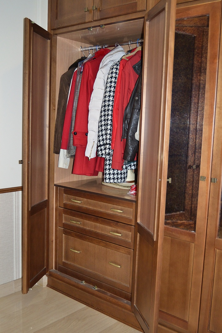 M s de 1000 ideas sobre armarios de nogal en pinterest - Cajonera interior armario ...