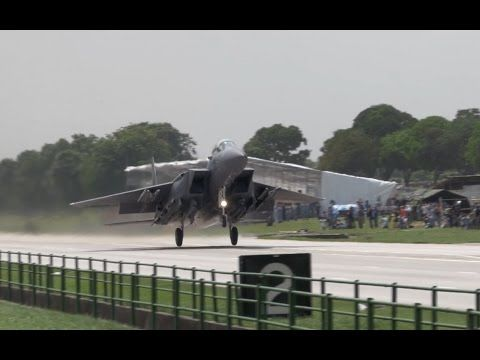Watch F-15 and F-16 Fighters Land on a Highway