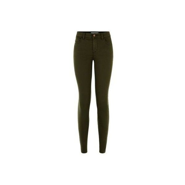 New Look Khaki Twill Super Skinny Jeans (310 MXN) ❤ liked on Polyvore featuring jeans, khaki, brown skinny jeans, new look skinny jeans, twill jeans, khaki jeans and super skinny jeans