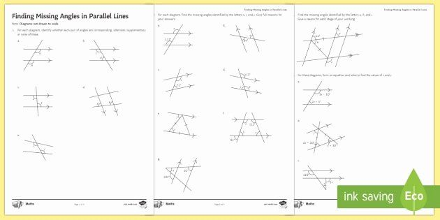 Angles on a straight line worksheet Latest