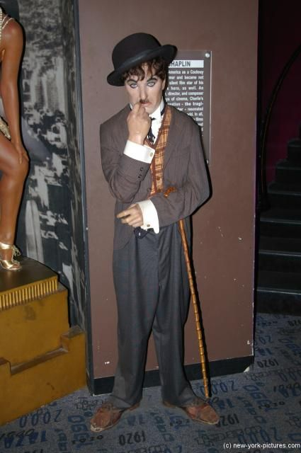 madam tussauds wax  figures | Charlie Chaplin wax figure at Madame Tussauds in New York