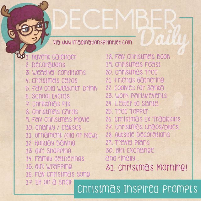 December Daily Christmas Inspired Prompts